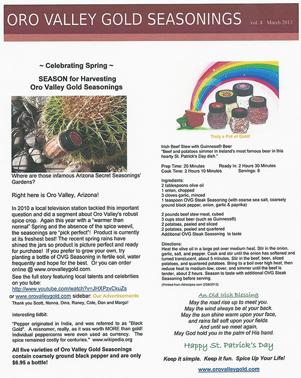 OVG Newsletter Vol.8 Mar 2013