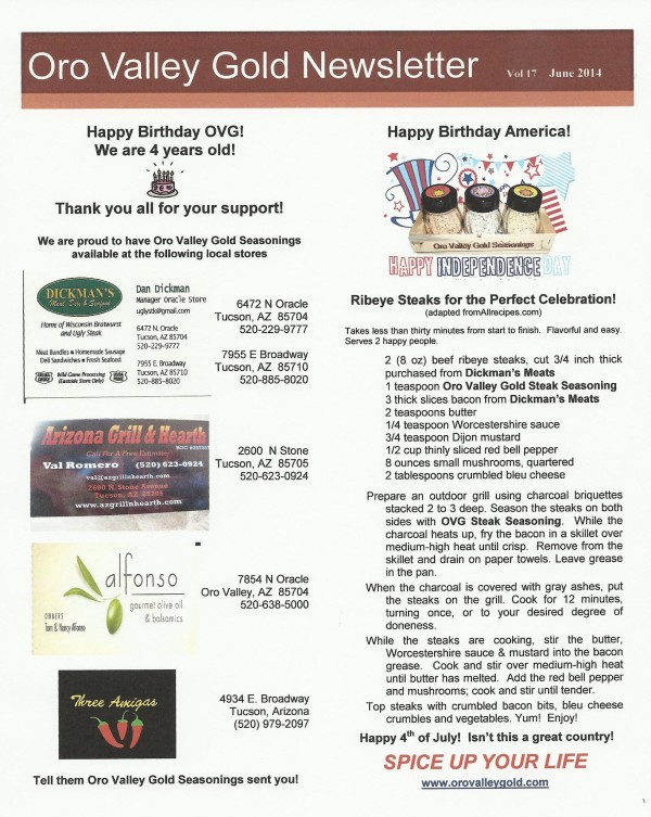 OVG newsletter June 2014